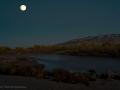 Supermoon Over Rio Grande and Sandia Mountains REV2